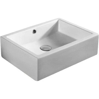Caracalla Ceramica Rectangular Bathroom Sink