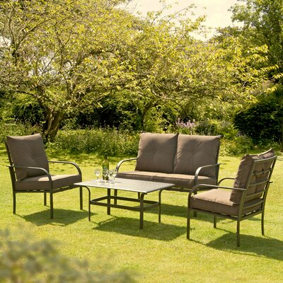 Suntime New Ferndown 4 Seater Sofa Set with Cushions