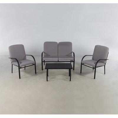 Suntime Florida 4 Seater Sofa Set with Cushions