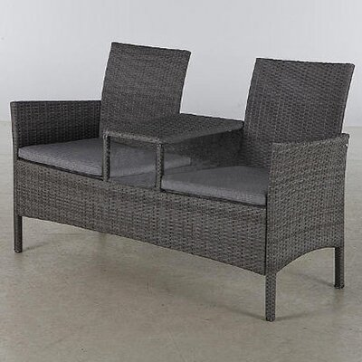 Suntime Forres Tete a Tete Rattan 2 Seater Steel Love Seat