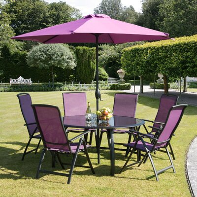 Suntime Havana 6 Seater Dining Set with Parasol