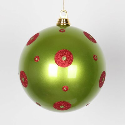 Polka Dot Candy Ball Ornament