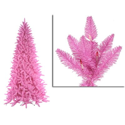 14' Pink Ashley Spruce Christmas Tree with Clear and Pink Lights