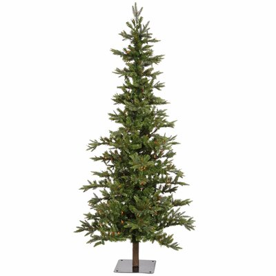 Vickerman Shawnee Fir 6' Green Alpine Artificial Christmas Tree with 250 Multicolored Lights with Stand
