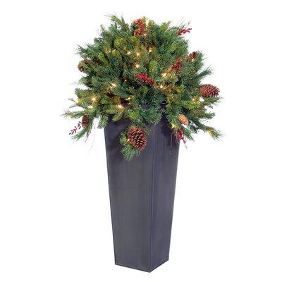 Vickerman Blue Wreath and Garland Cibola Berry Tree in Planter