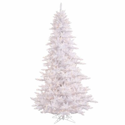 Slim 3' White Fir Artificial Christmas Tree with 100 LED Clear/White Lights with Stand