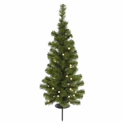 Solar 3' Green Artificial Christmas Tree with 30 LED Warm White Lights with Stand