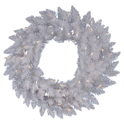 Vickerman Crystal White Spruce Wreath