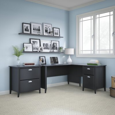 Connecticut 2 Piece L-Shape Desk Office Suite