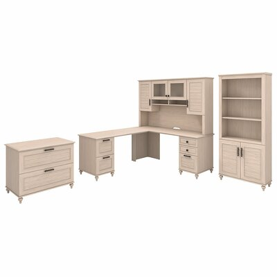 Volcano Dusk 4 Piece Desk Office Suite Color: Driftwood Dreams