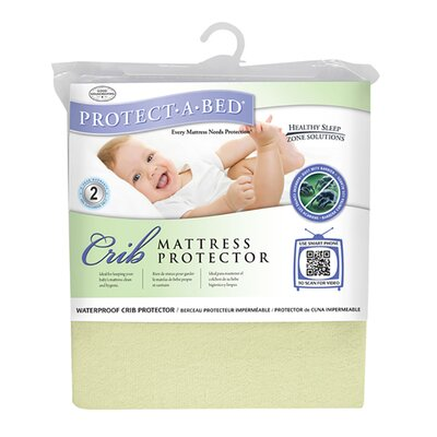 Premium Fitted Sheet Style Crib Protector Color: Yellow