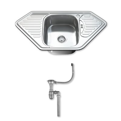 DIHL 95cm x 50cm Stainless Steel Kitchen Sink