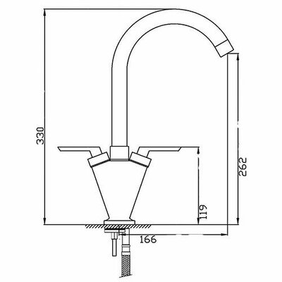 DIHL Double Handle Surface Mounted Monobloc Mixer Tap