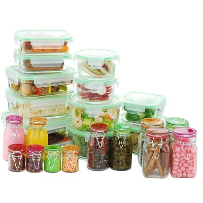Go Green Glassworks 34 Container Food Storage Set