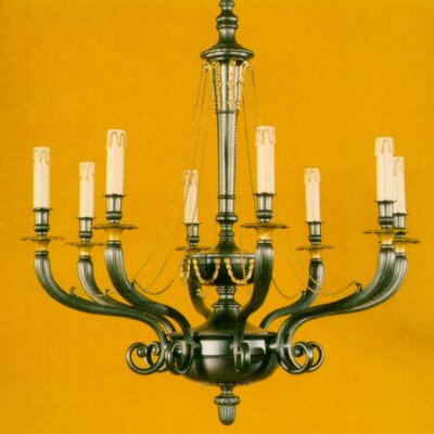 Martinez Y Orts Casted Plain 10 Light Candle Chandelier