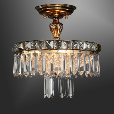 Martinez Y Orts 3 Light Crystal Chandelier