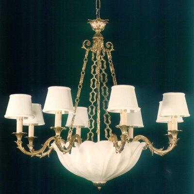 Martinez Y Orts Leaves Shaped Alabaster 11 Light Candle Chandelier