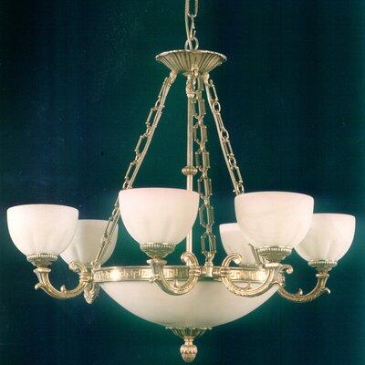 Martinez Y Orts Alabaster 9 Light Chandelier