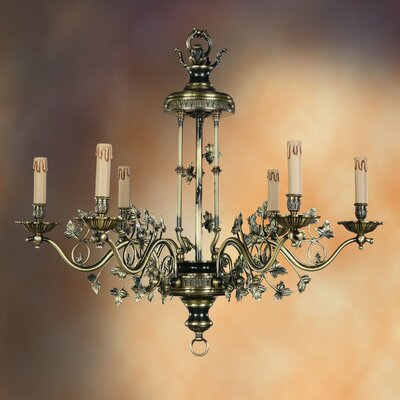 Martinez Y Orts Dinanderie 6 Light Candle Chandelier
