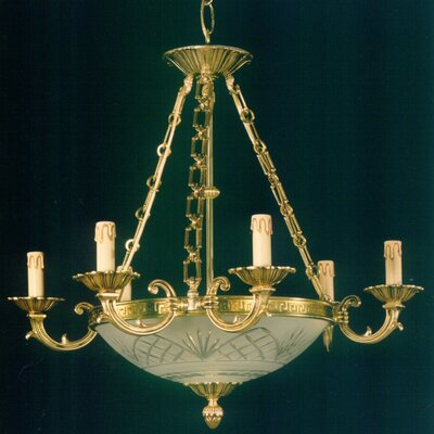 Martinez Y Orts Cut Glass 9 Light Candle Chandelier