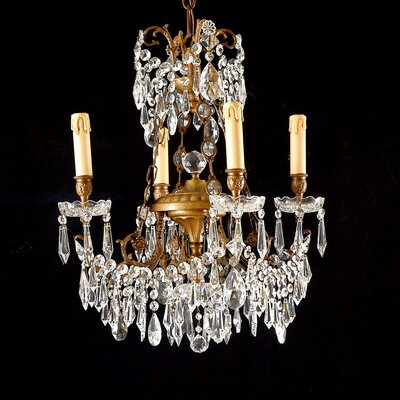 Martinez Y Orts 4 Light Crystal Chandelier