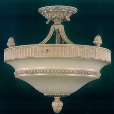 Martinez Y Orts 3 Light Semi-Flush Ceiling Light