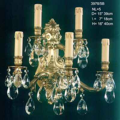 Martinez Y Orts Casted 5 Light Candle Wall Light