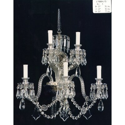 Martinez Y Orts Wall 5 Light Crystal Chandelier