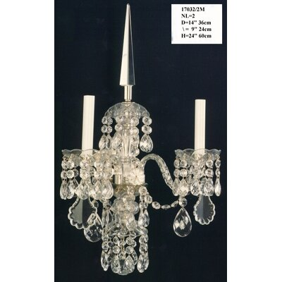Martinez Y Orts Semicut Trim 2 Light Candle Wall Light