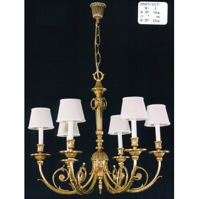 Martinez Y Orts Casted 6 Light Candle Chandelier