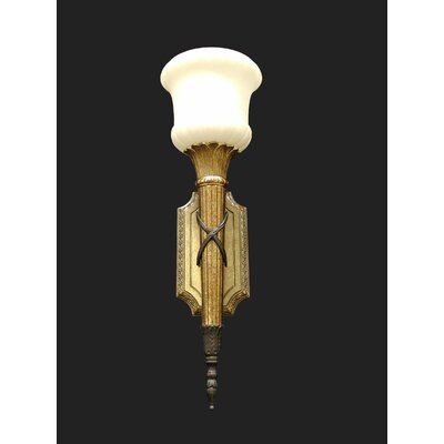 Martinez Y Orts Torchiers Alabaster 1 Light Semi-Flush Wall Light