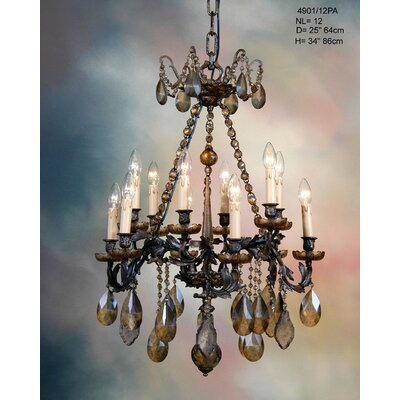 Martinez Y Orts Casted 12 Light Crystal Chandelier