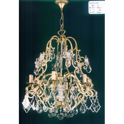 Martinez Y Orts Versailles 6 Light Crystal Chandelier