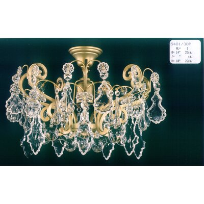 Martinez Y Orts Versailles 1 Light Crystal Chandelier
