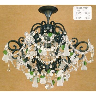 Martinez Y Orts Versailles 4 Light Crystal Chandelier