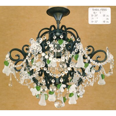 Martinez Y Orts Versailles 5 Light Crystal Chandelier