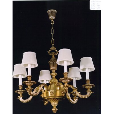 Martinez Y Orts Casted Decorative 6 Light Candle Chandelier