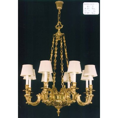 Martinez Y Orts Casted Decorative 8 Light Candle Chandelier