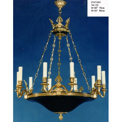Martinez Y Orts Empire 13 Light Candle Chandelier