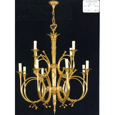 Martinez Y Orts Trompets 12 Light Candle Chandelier