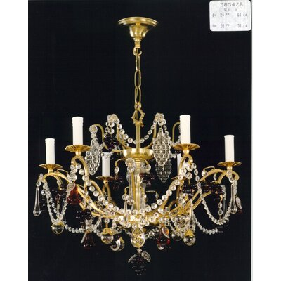 Martinez Y Orts Fruits Trim 6 Light Candle Chandelier