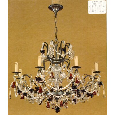 Martinez Y Orts Fruits Trim 8 Light Crystal Chandelier