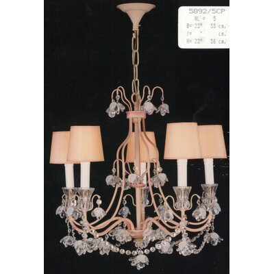 Martinez Y Orts Painted 5 Light Candle Chandlier