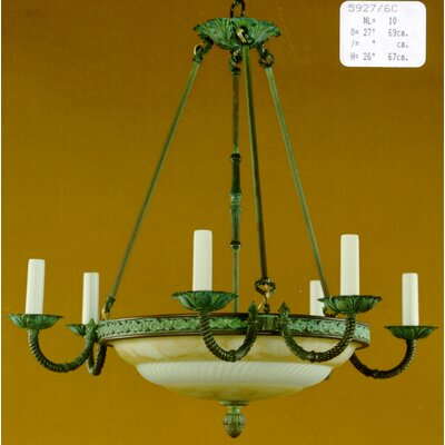 Martinez Y Orts Marbleiced Glass 10 Light Candle Chandelier