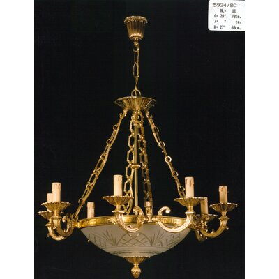 Martinez Y Orts Cut Glass 11 Light Candle Chandelier