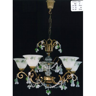 Martinez Y Orts 5 Light Crystal Chandelier