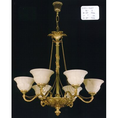 Martinez Y Orts Casted 6 Light Chandelier