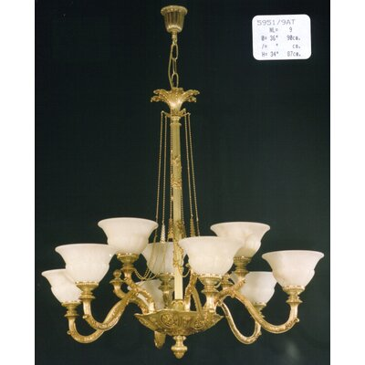Martinez Y Orts Casted 9 Light Chandelier