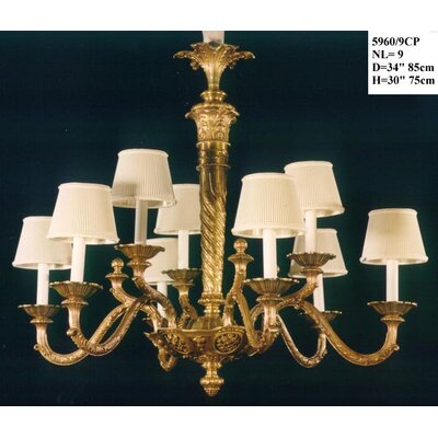 Martinez Y Orts Casted 9 Light Candle Chandelier