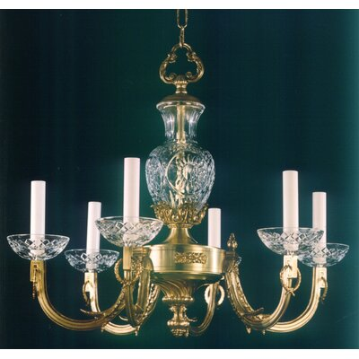 Martinez Y Orts Casted 6 Light Crystal Chandelier